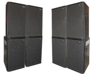 Pack 2×2 NEXO : 4 PS15 + 4 PS15 Basses