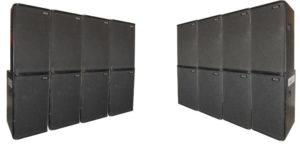 Pack 2×4 NEXO : 8 PS 15 + 8 PS 15 Basses