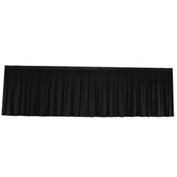 Jupe de scène coton gratté noir 6m